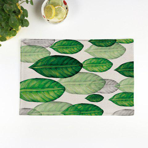 Outfit Plant Print Heat Insulation Non Slip Placemat - PATTERN B GREEN Mobile
