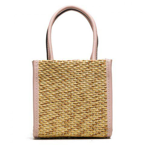 Fancy Straw Woven Tote Bag