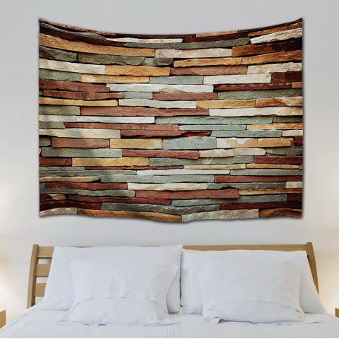Outfit Vintage Stone Brick Wall Art Bedroom Tapestry - W59 INCH * L79 INCH COLORMIX Mobile