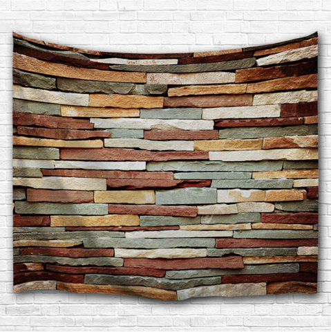 Best Vintage Stone Brick Wall Art Bedroom Tapestry - W59 INCH * L79 INCH COLORMIX Mobile