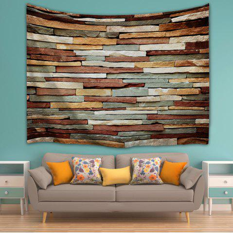 Cheap Vintage Stone Brick Wall Art Bedroom Tapestry - W59 INCH * L79 INCH COLORMIX Mobile
