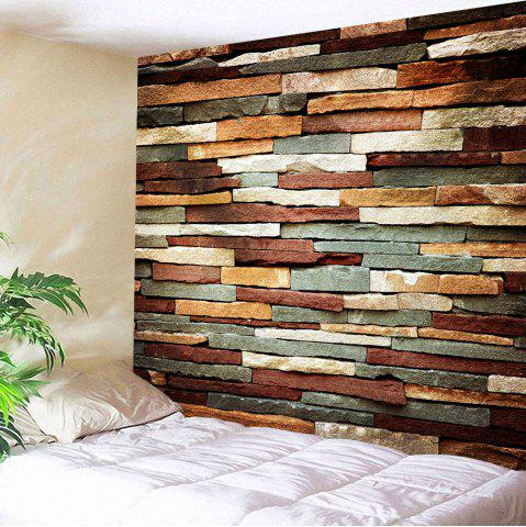 Vintage Stone Brick Wall Art Bedroom Tapestry - Colormix - W59 Inch * L79 Inch
