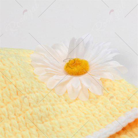 New African Chrysanthemum Baby Knitted Photography Clothes Set - YELLOW  Mobile