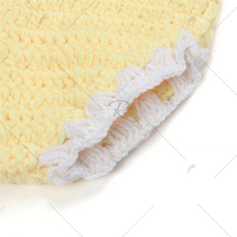 Affordable African Chrysanthemum Baby Knitted Photography Clothes Set - YELLOW  Mobile