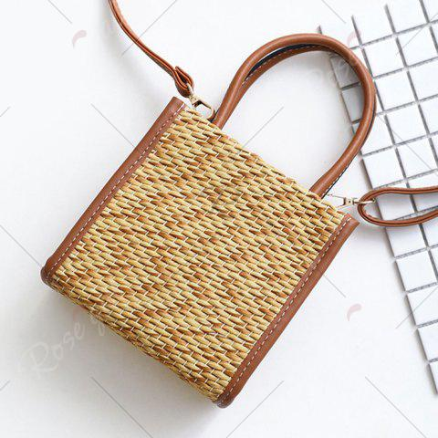 Outfits Straw Woven Tote Bag - BROWN  Mobile