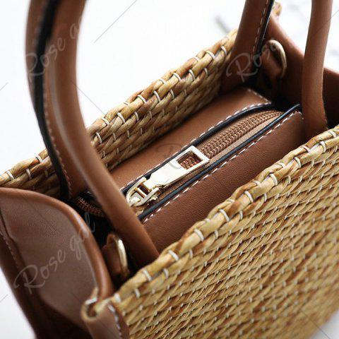 Best Straw Woven Tote Bag - BROWN  Mobile