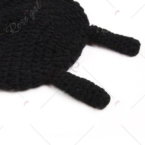 Chic Ladybird Knit Photography Clothes Set For Baby - BLACK RED  Mobile