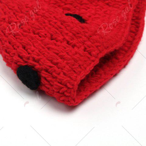 Discount Ladybird Knit Photography Clothes Set For Baby - BLACK RED  Mobile
