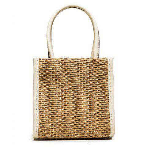 Buy Straw Woven Tote Bag WHITE