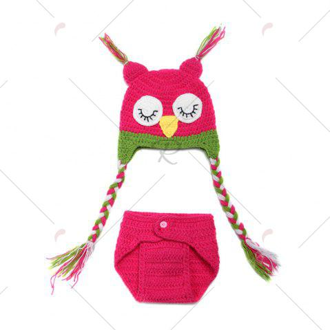 Fancy Knit Owl Baby Photography Hat and Diaper - TUTTI FRUTTI  Mobile