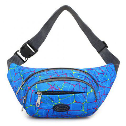 Shops Geometric Print Waist Bag - BLUE  Mobile