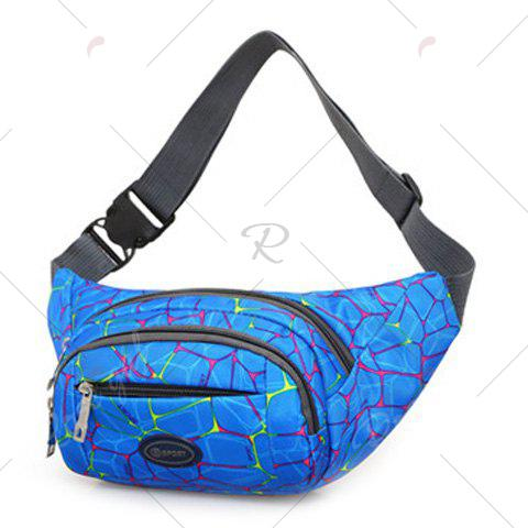 Outfit Geometric Print Waist Bag - BLUE  Mobile