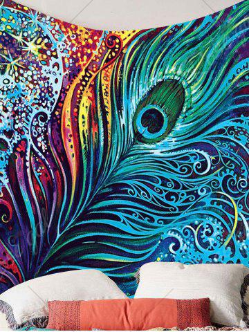 Buy Peacock Feather Printed Wall Hanging Tapestry - W79 INCH * L59 INCH COLORFUL Mobile