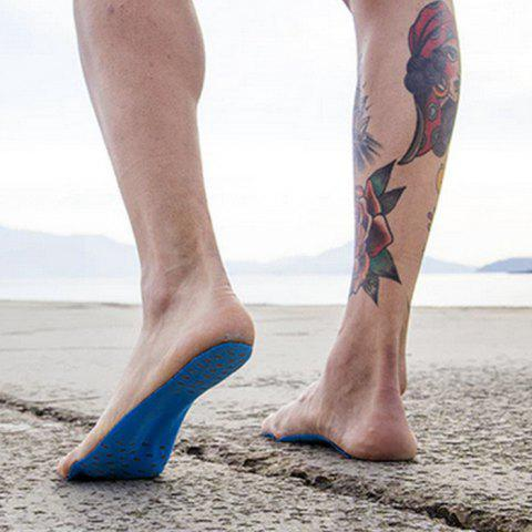 Unique Foot Pads Feet Sticker For Summer Beach Stick On Soles Flexible Feet Protection - L BLUE Mobile