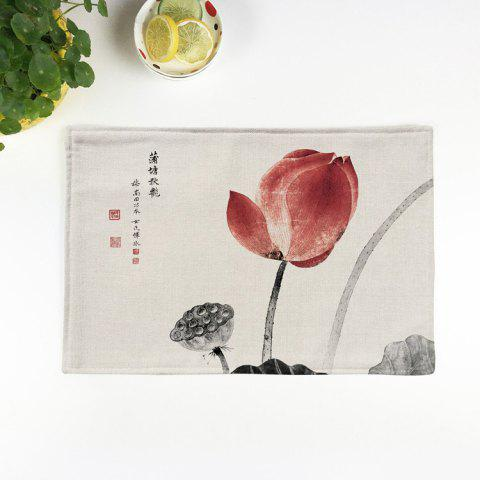 Unique Chinese Lotus Dining Decor Heat Insulated Placemat COLORMIX PATTERN 2