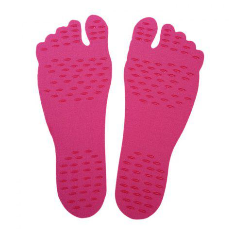 Latest Foot Pads Feet Sticker For Summer Beach Stick On Soles Flexible Feet Protection - M RED Mobile