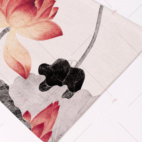 Trendy Chinese Lotus Dining Decor Heat Insulated Placemat - PATTERN 1 COLORMIX Mobile