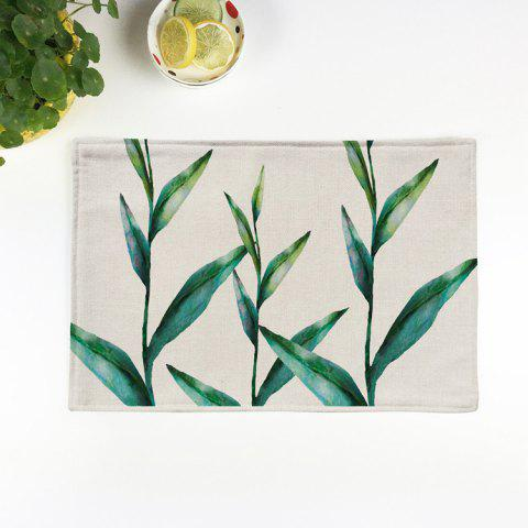 Unique Pastoral Linen Non Slip Tableware Placemat