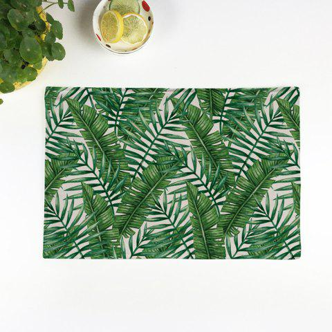 Outfits Fern Plant Heat Insulation Linen Placemat