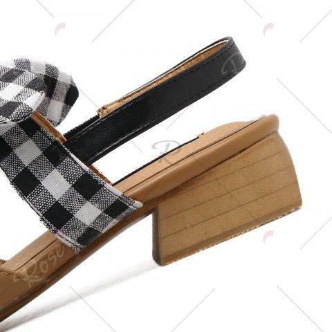 Sale Hollow Out Plaid Pattern Sandals - 39 BROWN Mobile