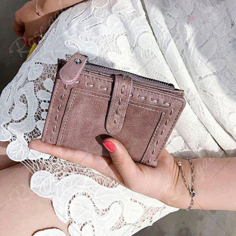 Best Stitching Bifold Small Wallet - DEEP PINK  Mobile