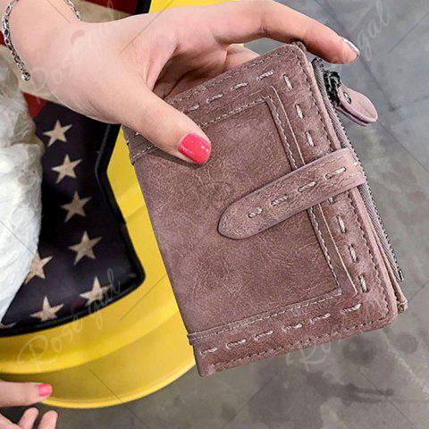 Buy Stitching Bifold Small Wallet - DEEP PINK  Mobile