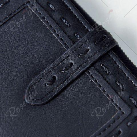 Best Stitching Bifold Small Wallet - BLACK  Mobile