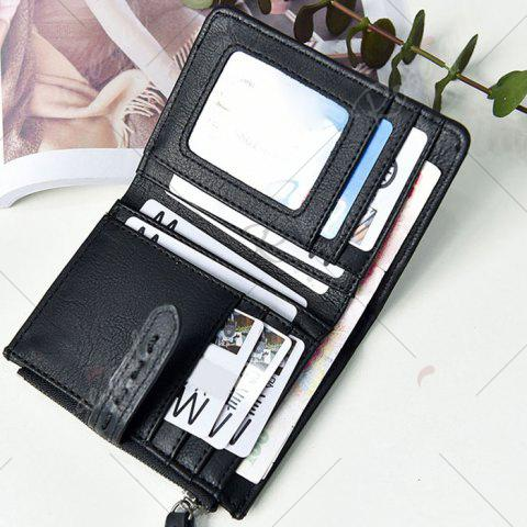 Buy Stitching Bifold Small Wallet - BLACK  Mobile