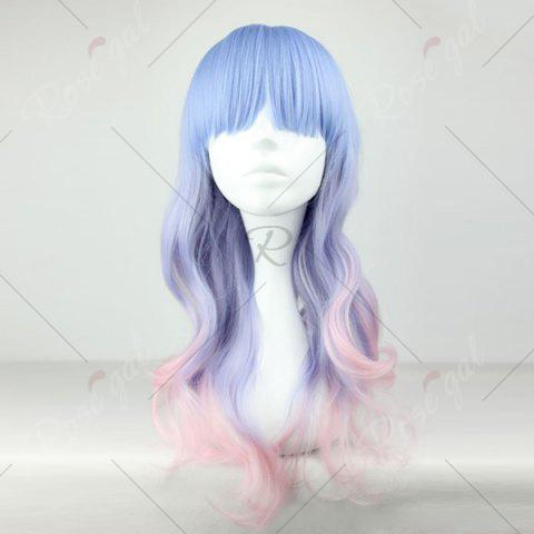 Hot Long Full Bang Colormix Wavy Lolita Synthetic Wig - COLORMIX  Mobile