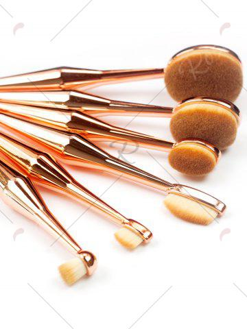 Latest 6Pcs Toothbrush Shape Makeup Brushes Kit - GOLDEN  Mobile