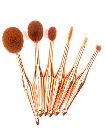 Outfit 6Pcs Toothbrush Shape Makeup Brushes Kit - GOLDEN  Mobile