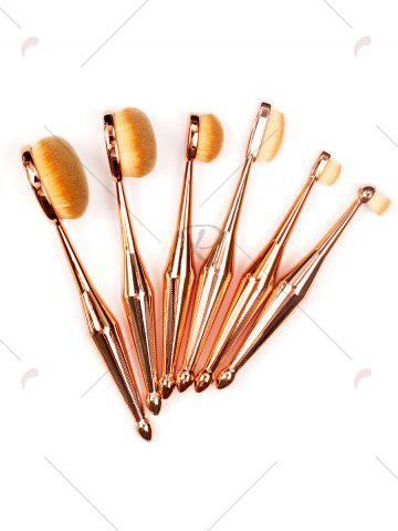 Online 6Pcs Toothbrush Shape Makeup Brushes Kit - GOLDEN  Mobile