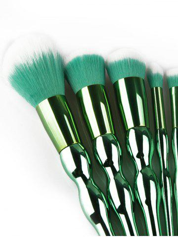 Outfit 8Pcs Plating Calabash Shape Handle Makeup Brushes Set - GREEN  Mobile