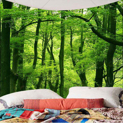 Sale Home Decor Waterproof Forest Wall Hanging Tapestry - W79 INCH * L79 INCH GREEN Mobile