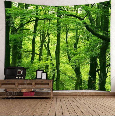 Chic Home Decor Waterproof Forest Wall Hanging Tapestry - W79 INCH * L79 INCH GREEN Mobile