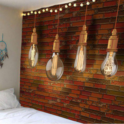 Hot Waterproof Bulb Brick Wall Art Tapestry