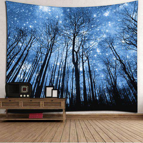 Chic Wall Hanging Forest Printed Tapestry - W79 INCH * L59 INCH BLUE Mobile