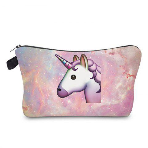Latest Unicorn Print Makeup Bag - PEARL PURPLE  Mobile