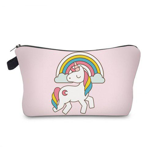 Affordable Unicorn Print Makeup Bag LIGHT PINK