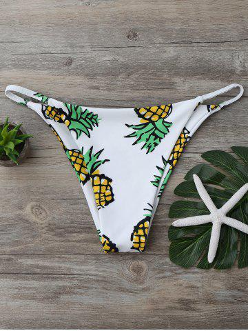 Latest Pineapple Print High Cut Swim Bottom