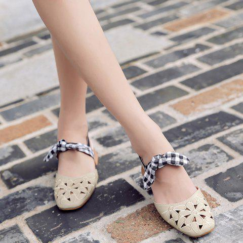 New Hollow Out Plaid Pattern Sandals