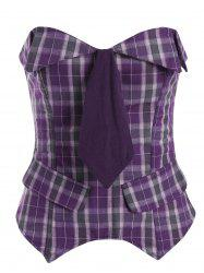 Plaid Waist Training Corset