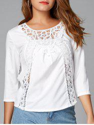 Sheer Lace Insert Blouse