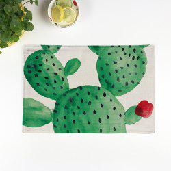 Heat Insulation Table Cactus Printed Placemat - BEIGE PATTERN A