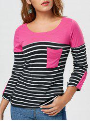 Pocket Stripe Long Sleeve T-shirt