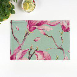Floral Table Heat Resistant Linen Placemat - LIGHT GREEN