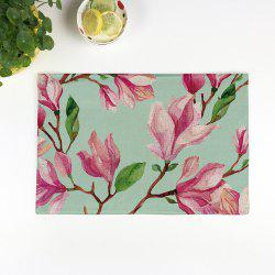 Floral Table Heat Resistant Linen Placemat - LIGHT GREEN PATTERN B
