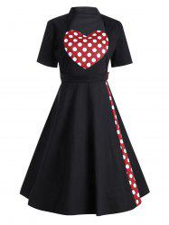 Plus Size Heart Pattern Vintage Pin Up Dress