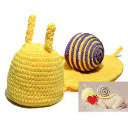 Knitted Cartoon Snail Shape Baby Hooded Blanket -
