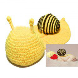 Knitted Cartoon Snail Shape Baby Hooded Blanket - COFFEE